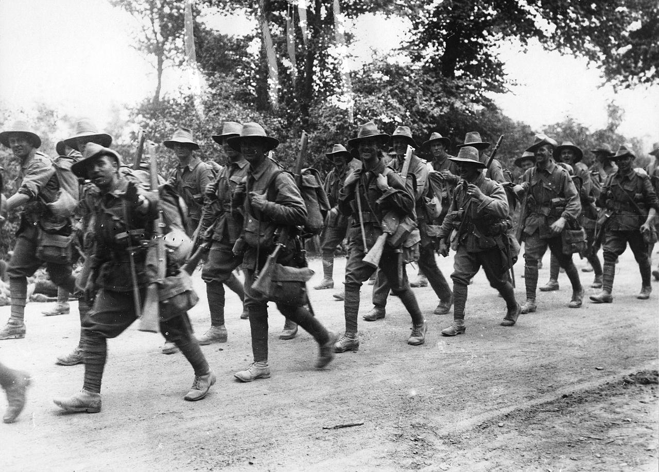 Australian troops in WW1