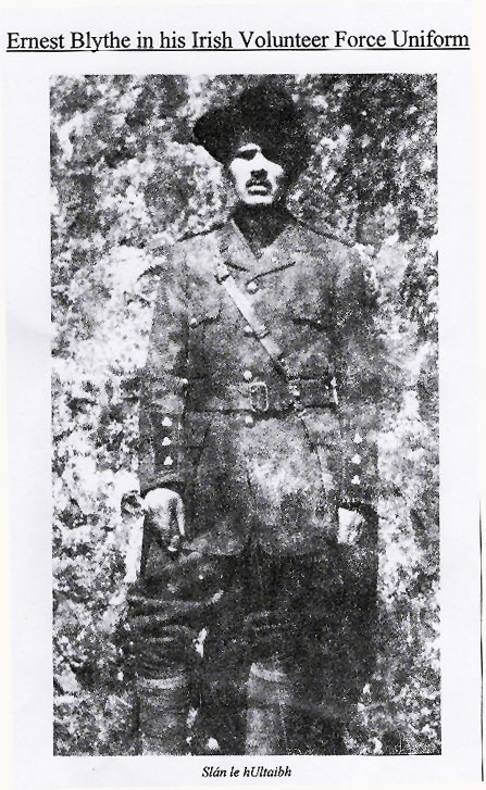 Ernest Blythe in his Irish Volunteer Force Uniform