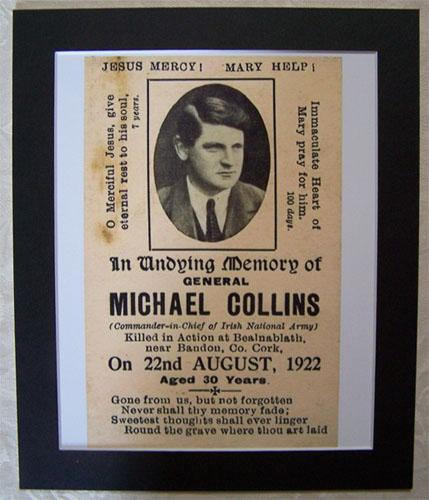 Michael Collins Memorial Death Notice