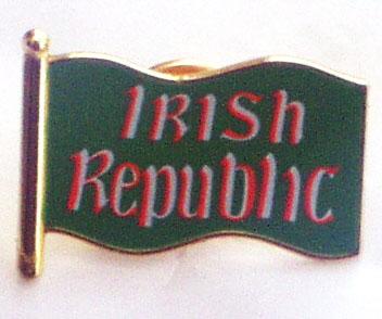 Irish Republic Flag Pin Badge