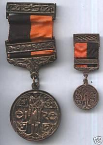 Miniature Black and Tan Medal