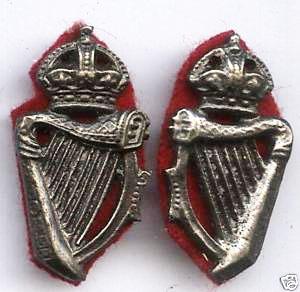 Royal Irish Constabulary Collar Dogs Pair