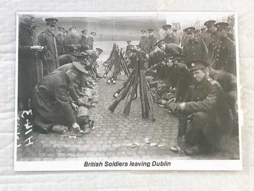 British soldiers leaving Dublin
