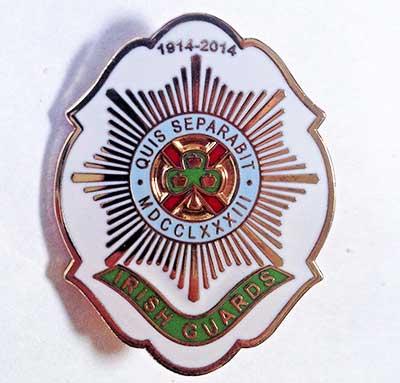 Irish Guards 1914-2014 badge