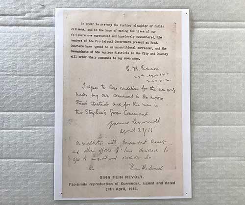 Padraig Pearse surrender document