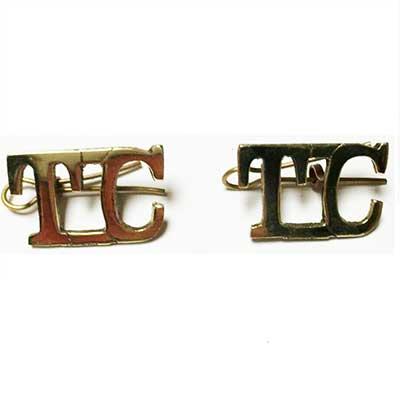 Black and Tan temporary cadet shoulder titles