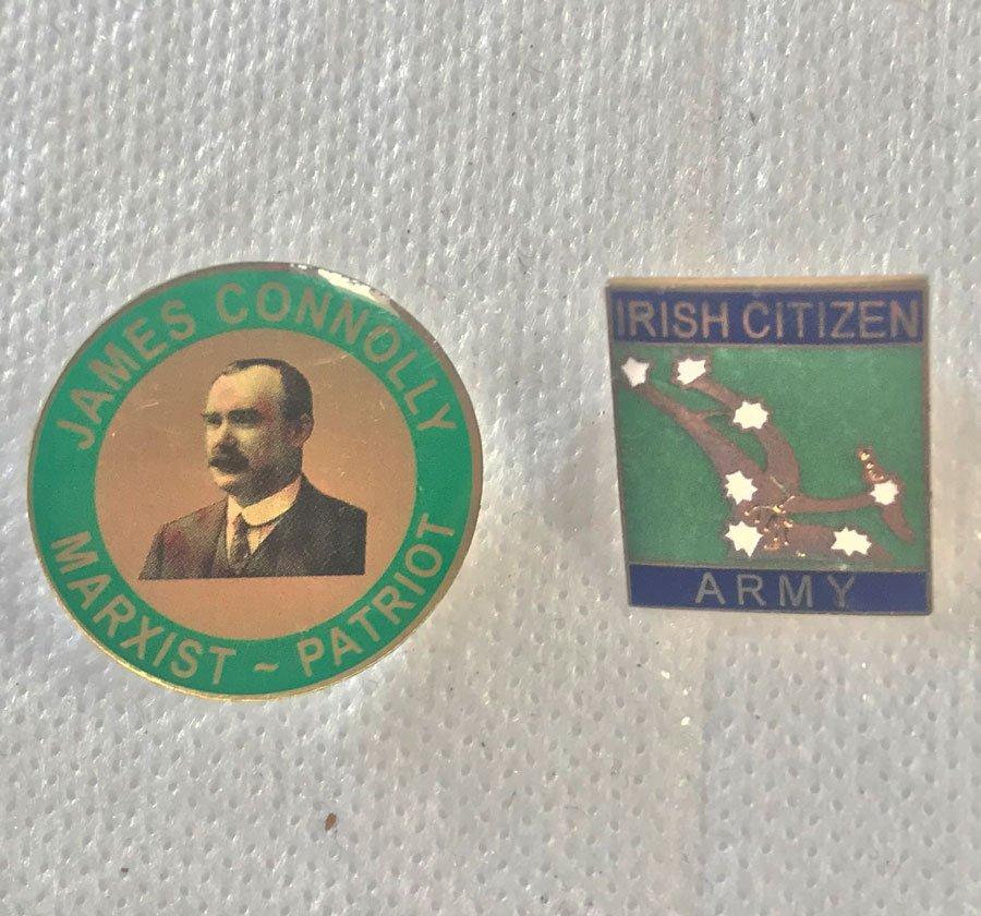 James Connolly Irish Citizen army badges